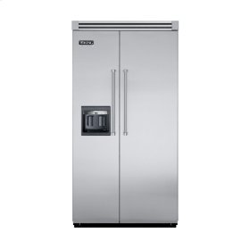 """Stainless Steel 42"""" Side-by-Side Refrigerator/Freezer with Dispenser - VISB (Integrated Installation)"""