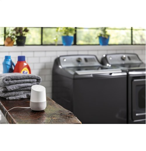 GE Diamond Gray High Capacity Top Load Washer Dryer Set