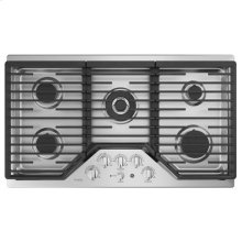 """36"""" Built-In Gas Deep Recessed Edge-to-Edge Black Cooktop"""