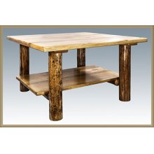 Glacier Country Log Cocktail Table