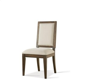 Modern Gatherings Upholstered Side Chair Brushed Acacia finish
