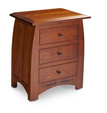 Aspen Nightstand with Drawers and Inlay