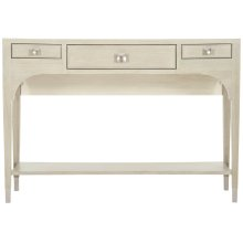 East Hampton Console Table in Cerused Linen (395)