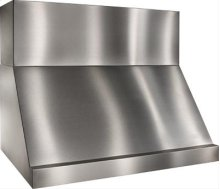 "48"" Stainless Steel Range Hood with Internal and External Blower Options"