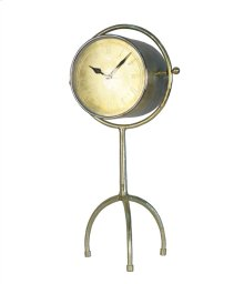 "Adjustable Gold Clock On Tripod 15.5""D 15.5"