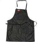 Grilling Apron - Black Waxed Canvas & Leather Product Image