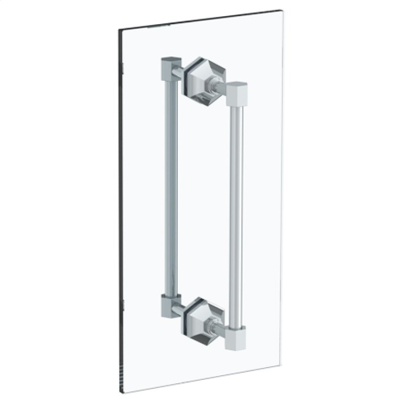 Beverly 24 Double Shower Door Pull Glass Mount Towel Bar