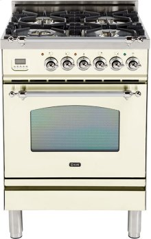 "Antique White - Nostalgie 24"" Gas Range"