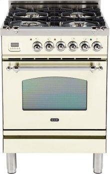 "Antique White - Nostalgie 24"" Gas Range"