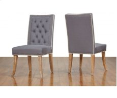 Garrett Grey Linen Dining Chair Product Image