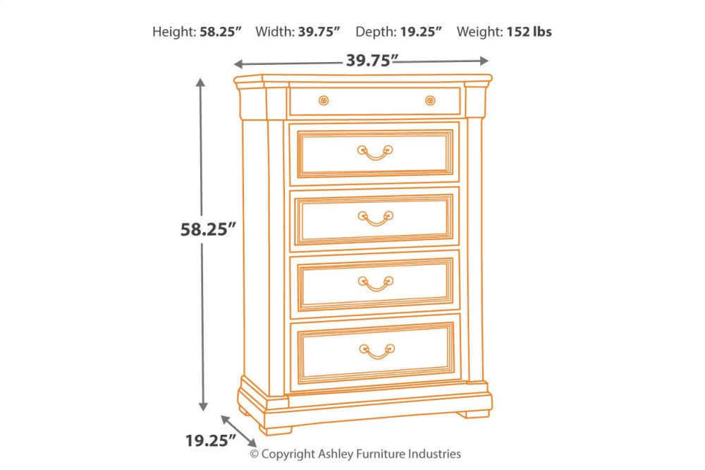 ... Chests; Ashley Furniture B73646. Five Drawer Chest