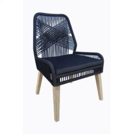 Black and Natural Mango Side Chair