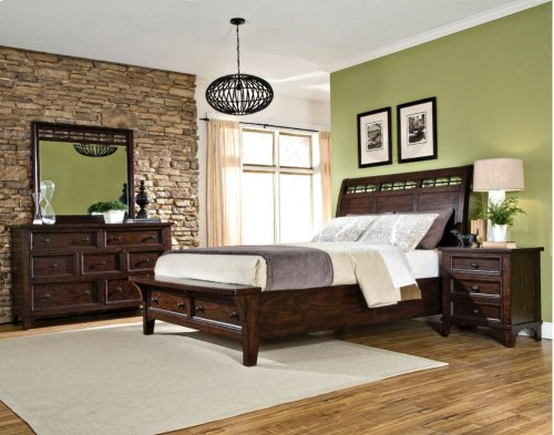 Queen Sleigh Bed Storage Rails and Slats