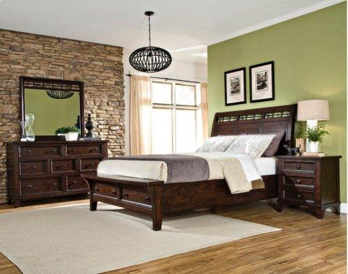 King Sleigh Bed Storage Rails/Slats