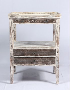 Side Accent Table-weathered Wood Finish Su