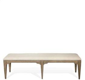 Myra Upholstered Dining Bench Natural finish