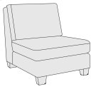 Larson Armless Chair in Mocha (751) Product Image