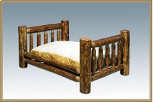 Glacier Country Log Rustic Pet Bed