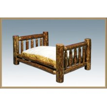 Glacier Country Log Rustic Pet Bed