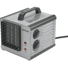 Big Heat, Portable Heater, Efficient Two-Level Heater, 1500 or 1200 watts. Built-in adjustable thermostat.