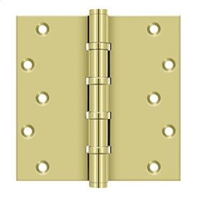 """6"""" X 6"""" Square Hinges, Ball Bearings - Polished Brass"""