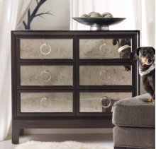 Melange Six Drawer Mirrored Front Chest