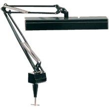 Clamp On Fluor. Swing Arm Lamp, Black, 15wx2