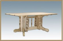 Montana Log Double Pedestal Table