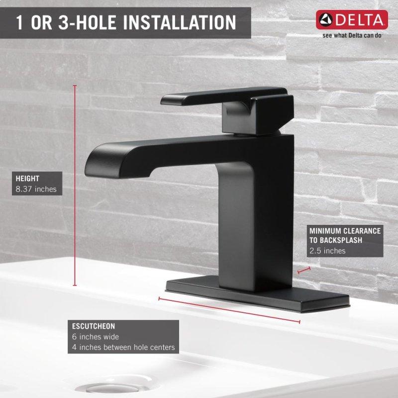 Matte Black Single Handle Lavatory Faucet