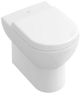 Floor-standing toilet with inwall tank - White Alpin CeramicPlus