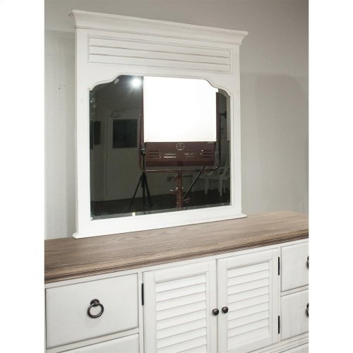 Myra - Landscape Mirror - Paperwhite Finish