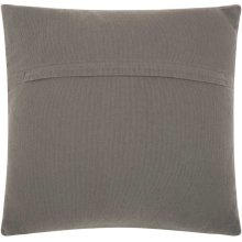 "Life Styles Dc174 Light Grey 20"" X 20"" Throw Pillow"
