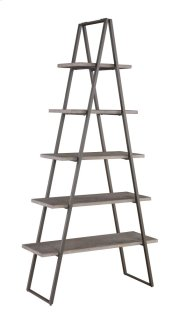 "Emerald Home Atari Bookshelf 36"" W/1 Rack Metal Frame, Antique Grey Shelves Ac350-36 Product Image"