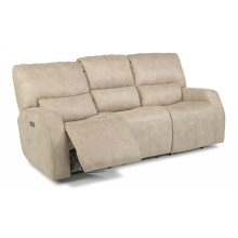 Cooper Fabric Power Reclining Sofa with Power Headrests
