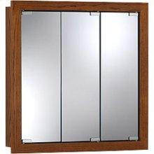"24""W x 24""H - Honey Oak Wood Cabinet"