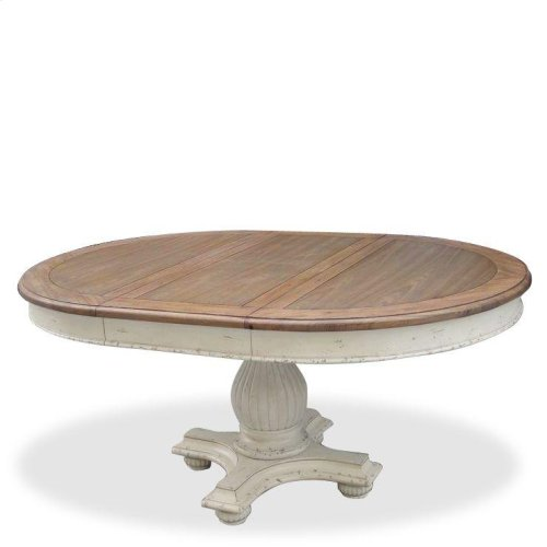 Coventry Two Tone - Table Base - Weathered Driftwood/dover White Finish