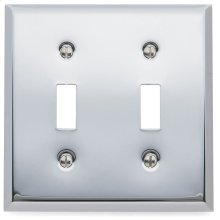 Polished Chrome Beveled Edge Double Toggle