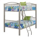 """Heavy Metal """"Pewter"""" Twin Over Twin Bunk Bed Product Image"""