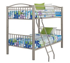 "Heavy Metal ""Pewter"" Twin Over Twin Bunk Bed Product Image"