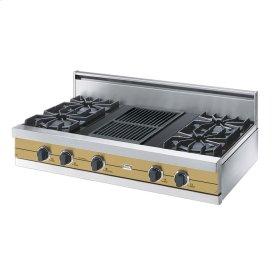 "Golden Mist 42"" Open Burner Rangetop - VGRT (42"" wide, four burners 12"" wide char-grill)"