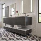 "Engineered Stone 49"" X 19"" X 3/4"" Quartz Dry Vanity Top In Lava Black Product Image"