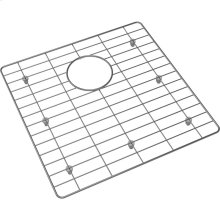 "Crosstown Stainless Steel 16"" x 15"" x 11/16"" Bottom Grid for Glass Top Sink"