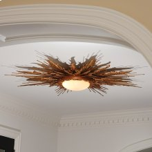 Flame Light Fixture-Gold