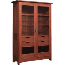 Oak Mission Display Cabinet