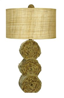 150W 3 way Lumber Jack resin table lamp