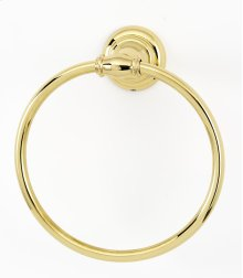 Charlie's Collection Towel Ring A6740 - Polished Brass
