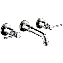 Chrome Montreux Wall-Mounted Widespread Faucet Trim with Lever Handles, 1.2 GPM