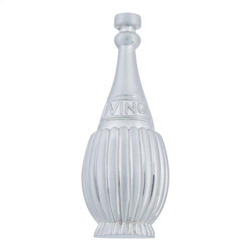 Chianti Bottle Knob 3 Inch - Brushed Nickel