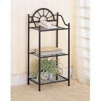 Traditional Black Three-shelf Accent Table Product Image
