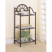 Traditional Black Three-shelf Accent Table